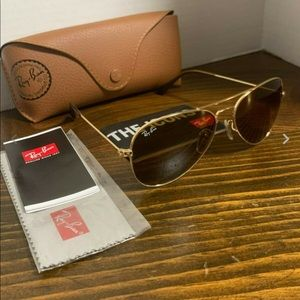 Ray-Ban Sunglasses RB 3025 001/33 Gold Brown Lens